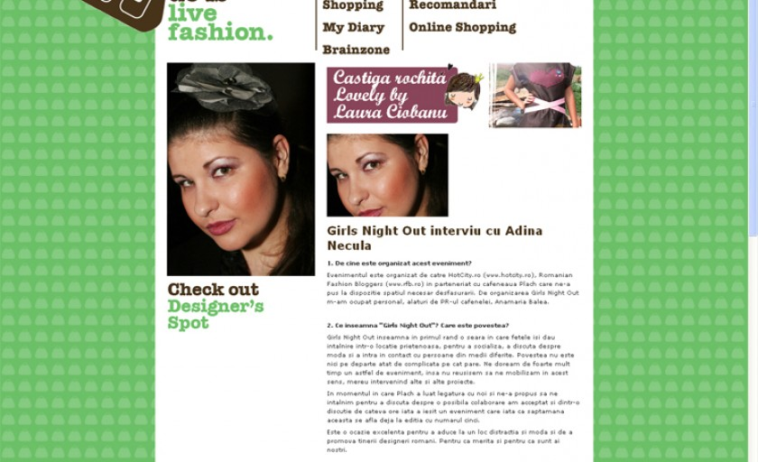 Despre Girls Night Out in Styleguide.ro
