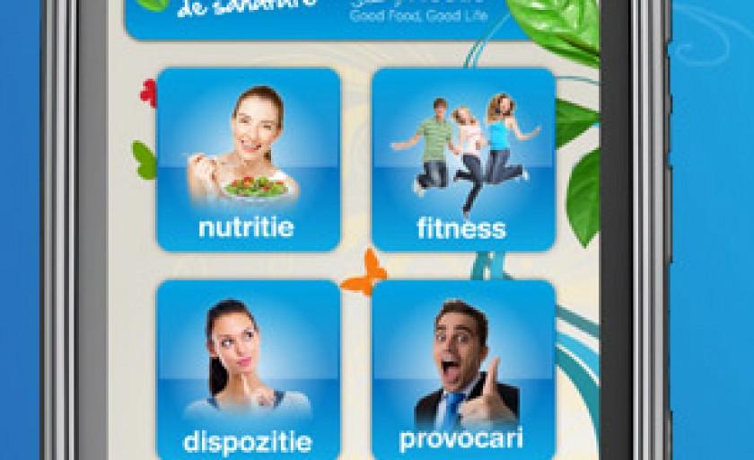 Program de sanatate si dieta pe telefonul mobil