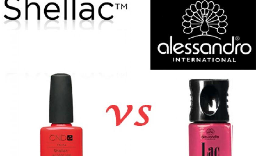 Manichiura Shellac vs Alessandro