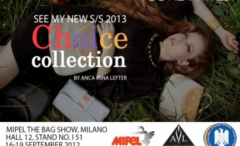 Choice: noua colectie de genti primavara-vara 2013 Anca Irina Lefter