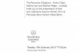 Designerii romani pregatiti pentru startul Berlin Fashion Week (ianuarie 2013)