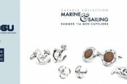 Colectia capsula de butoni din argint Marine&Sailing by Moogu Contemporary Jewellery