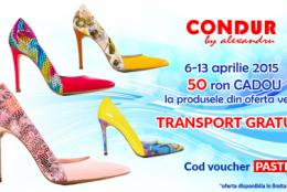 Noile modele de pantofi primavara-vara 2015 CONDUR by alexandru si discount-urile speciale de Paste