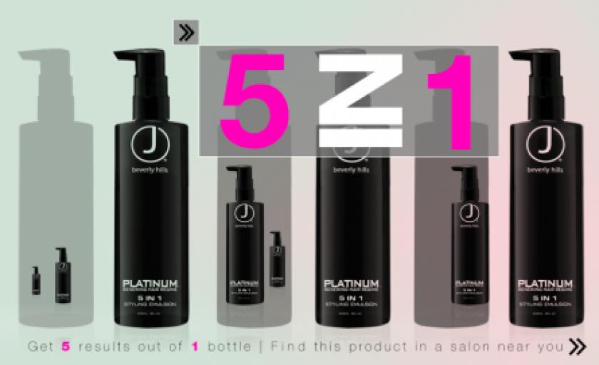 Noul J Beverly Hills Platinum 5-in-1 Styling&Conditioning Creme: ingrijire de 5 stele pentru un par irezistibil