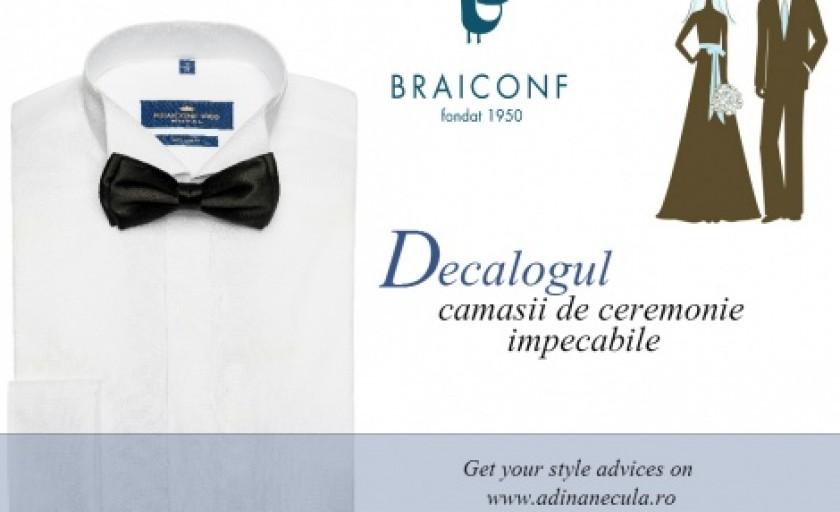 Decalogul camasii de ceremonie impecabile: sugestiile Braiconf pentru o tinuta rafinata