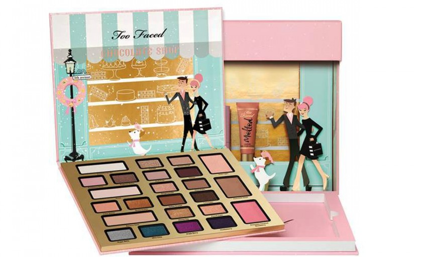 Chintesenta unui machiaj desavarsit de Craciun: paleta Too Faced The Chocolatier