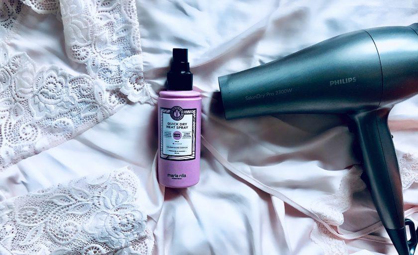 Express beauty: Maria Nila Quick Dry Heat Spray, produsul care reduce timpul de uscare al parului si asigura o protectie termica excelenta